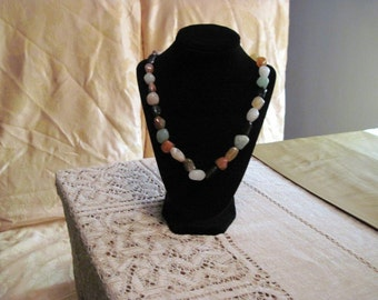 beaded glass necklace