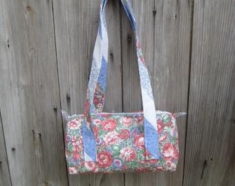 Floral Satchel Handbag