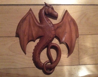 Dragon with wings open