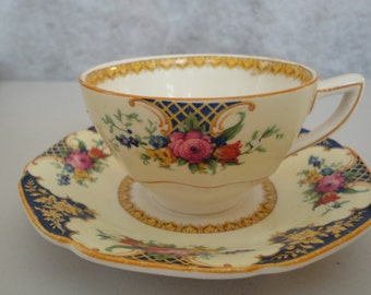 Westminster by Crown Ducal Cup & Saucer English Bone China 1920s