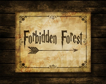 Forbidden Forest Harry Potter Weddi ng Sign  amp  Post Signs   Printable