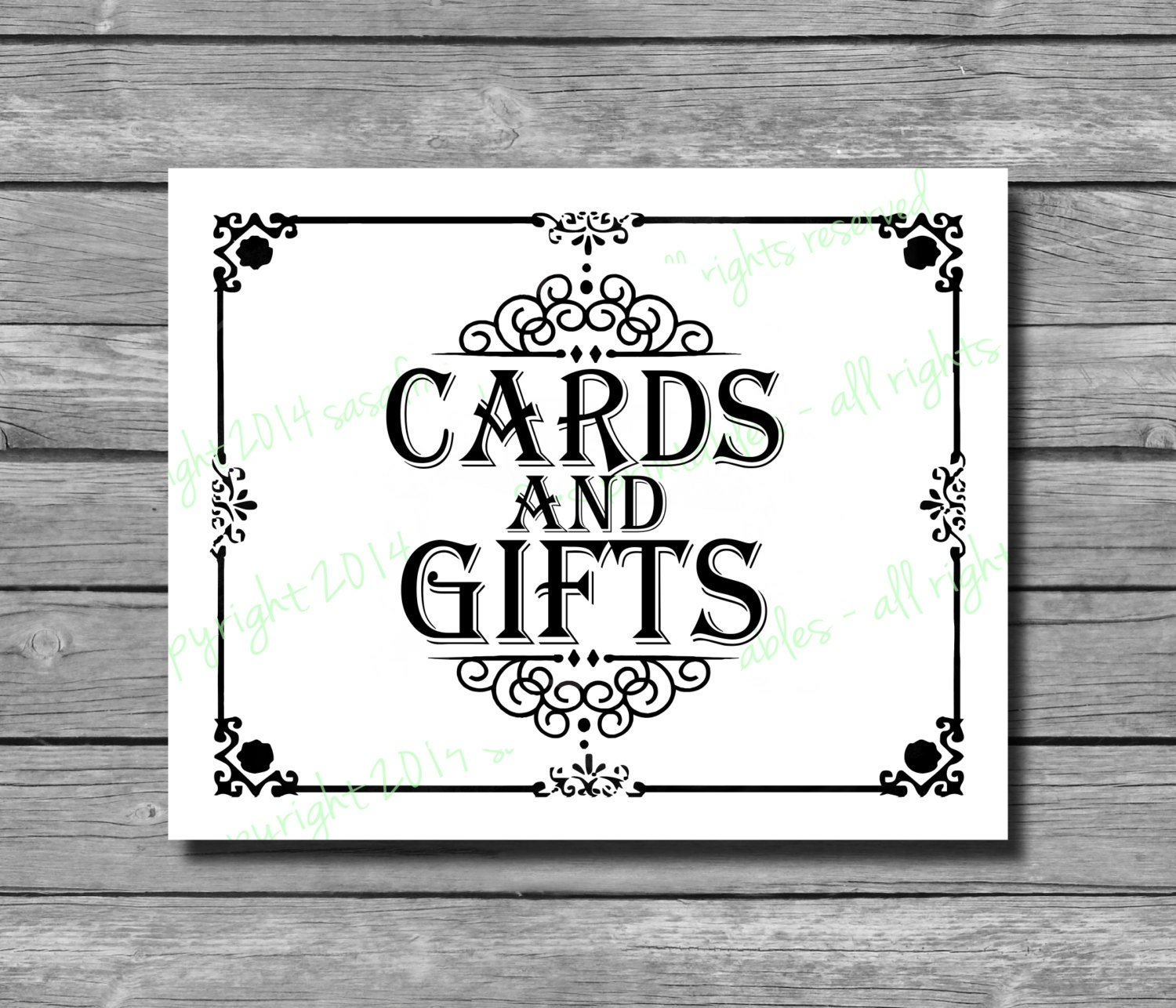 Clean image intended for cards and gifts sign printable