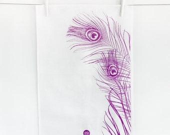 "Tea towel ""Feather"""