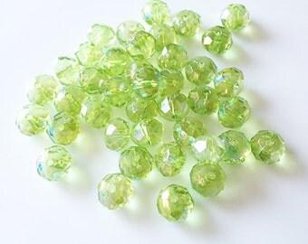 30 Green Beads (8mm)