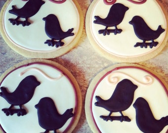 Bird Sugar Cookies: 1 Dozen