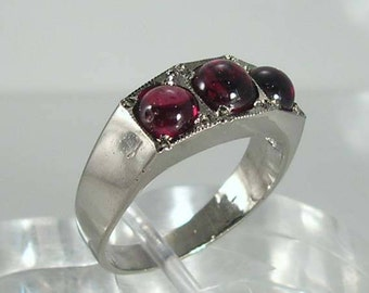 Vintage Sterling Silver Cabochon Ring
