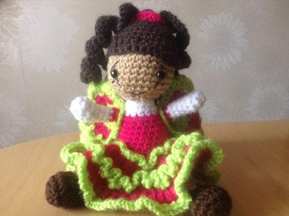 Amigurumi Butterfly Tutorial : Amigurumi pattern butterfly girl Beatrice crochet doll