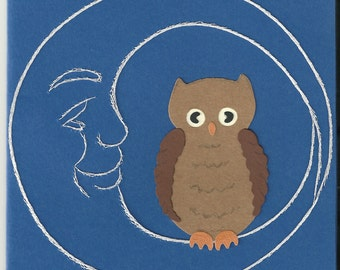 Owl in the Moon Greeting Card