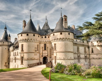 French Country Castle Print, France Travel Photography, in Canvas or Print sizes 8x10, 11x14, 16x24, 20x30, Home Decor and gifts