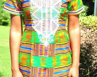 Beautiful  authentic  African print dress