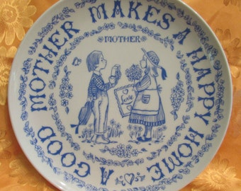 A Good Mother Makes A Happy Home - Decorative Plate