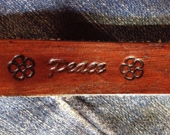 Custom Personalized Leather Bracelet