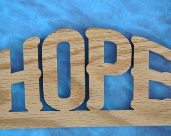 Small Hope Wooden Word Art