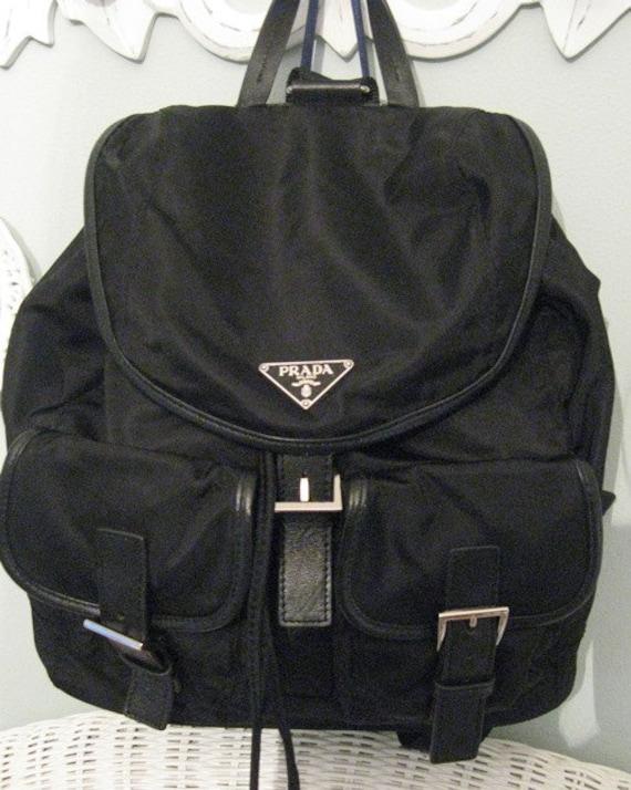 Prada Nero Black Large Vela Sport Backpack Authentic by LuxShoppe