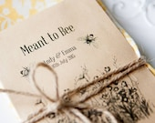 10 Meant To Bee Personalised Seed Packet Favours