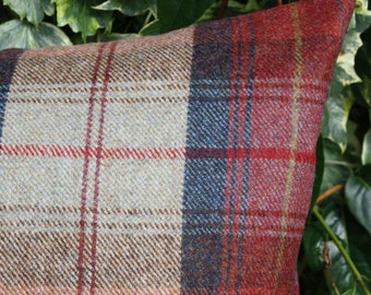 "Wool Plaid Cushion Cover - Rosstweed Norham - 18"" (46cm) Square"