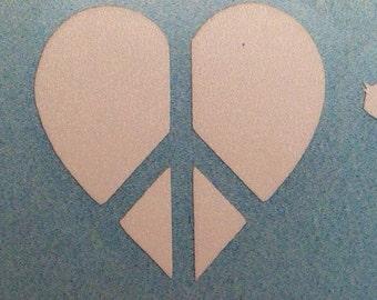 Paw Peace/Heart Rat vinyl car decal