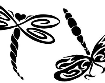 Dragonflies Decal - Multiple Colors Available