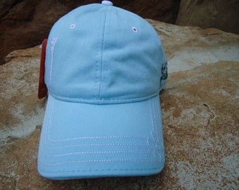 Women's Golf Hat Frost Blue with Embroidered Tee Design | Great Golf Gift Idea!