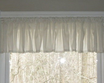 Window Valance, Sheer Valance, Ado Sheer, Cafe Curtains