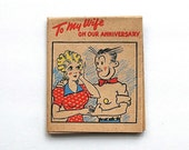1945 RARE Hallmark Rufftex Anniversary Card Blondie Dagwood King Features Large Foldout