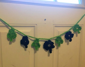 Shamrock Garland Crochet Green Irish Decoration Clover