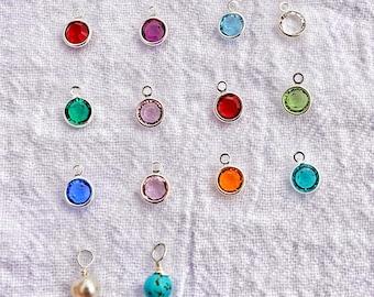 Swarovski Crystal Charm or Freshwater Pearl, add on