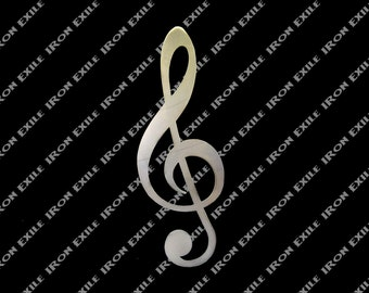 Treble Clef Metal Music Wall Art Home Decor