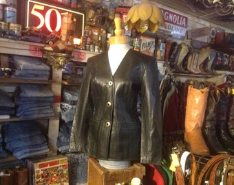 North Beach Michael Hoban Kid Leather Jacket 1980s