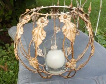 Lovely Shabby Chic Metal Candleholder Centerpiece!