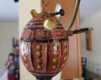 Dalek painted egg Real eggshell Doctor Who decoration