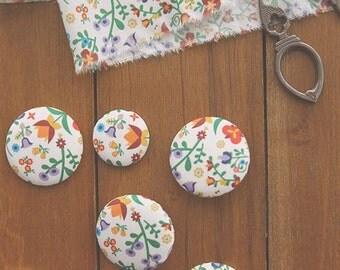 Scandinavian Style Hungarian Style Flower Pattern Fabric