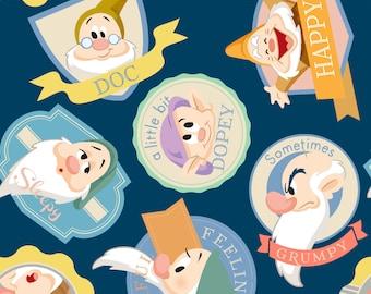 Remnant -Disney's Seven Dwarfs Fleece - Remnant 26 Inches