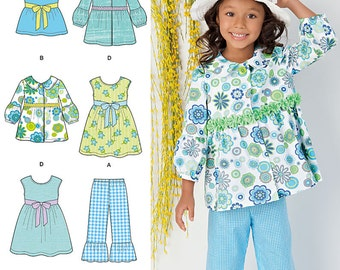 Simplicity Sewing Pattern 1476 Child's Dress, Top, Pants and Jacket