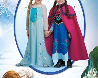 Simplicity Sewing Pattern 1233 Disney's Frozen Costume for Children