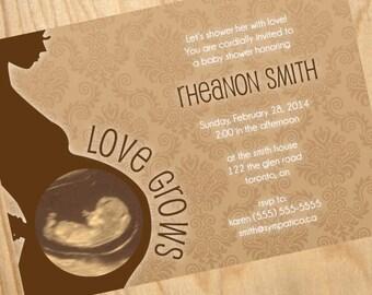 Ultrasound Image // Baby Shower Invitation