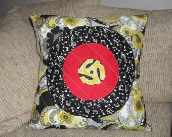 45 Record RPM Adaptor Pillow