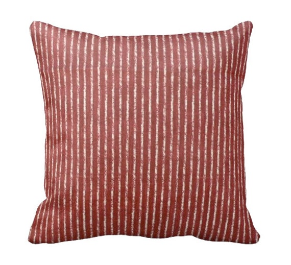 Throw Pillow Sizes For Sofa : 7 Sizes Available: Red Striped Pillow Cover by ReedFeatherStraw