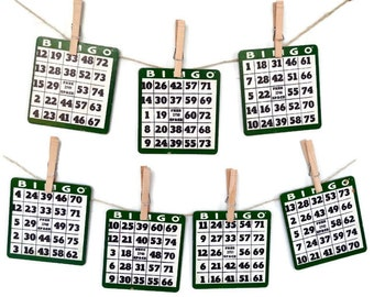 Dark Green Vintage Bingo Card