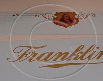 Franklin 7 or 9 Typewriter Water Slide Decal set