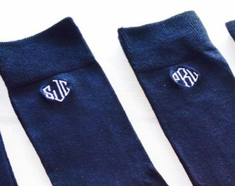 Mens Monogrammed Dress Socks Monogrammed Groomsmen Sock