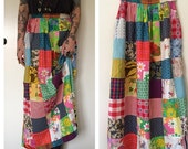 Vintage 70's patchwork skirt
