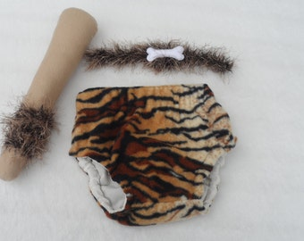 Caveman outfit,  Baby boy caveman/Tarzan costume, baby boy, fancy dress,  Baby fancy dress,  costume, diaper cover,made to order
