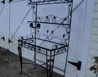 Salterini wrought iron bakers rack etagere