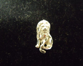 Vintage SHUBE'S Sterling Silver Small Lion Charm  .925 1.9 grams