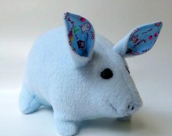 Stuffed Animal - Stuffed Animal Piggy Toy in Blue