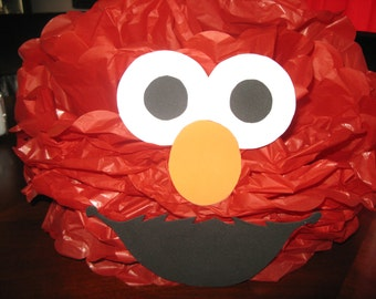 sesame street pom pom decorations, Elmo, Big bird, Cookie monster and Oscar