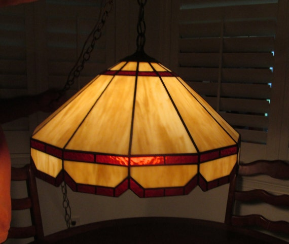 tiffany style stained glass hanging lamp 20 light brown panel lamp. Black Bedroom Furniture Sets. Home Design Ideas
