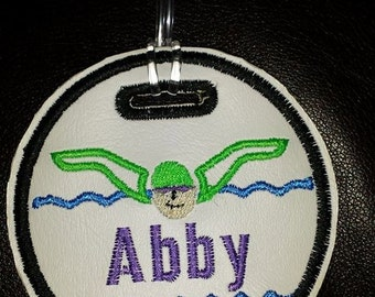 Swimming Swimmer Bag Tag sports tag