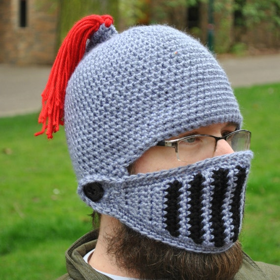 Knight crochet hat pattern